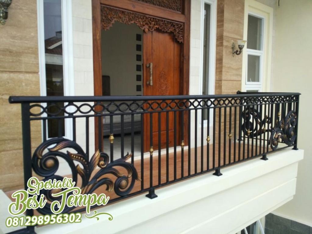 Pagar Balkon Stainless Minimalis Pagar Besi Tempa Mewah Klasik Jakarta 081298956302 Model pagar teras atas